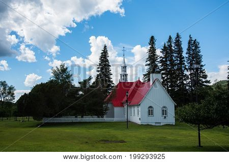 The old St. Bernard Chapel. Mont-Tremblant - Canada