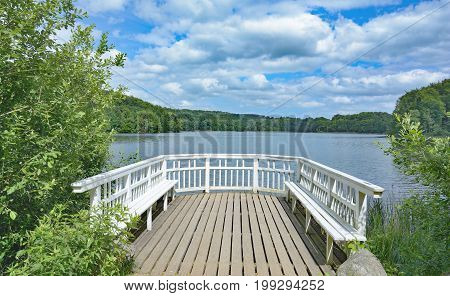 idyllic Place at Lake Ukleisee near Eutin in Holstein Switzerland,Schleswig-Holstein,Germany