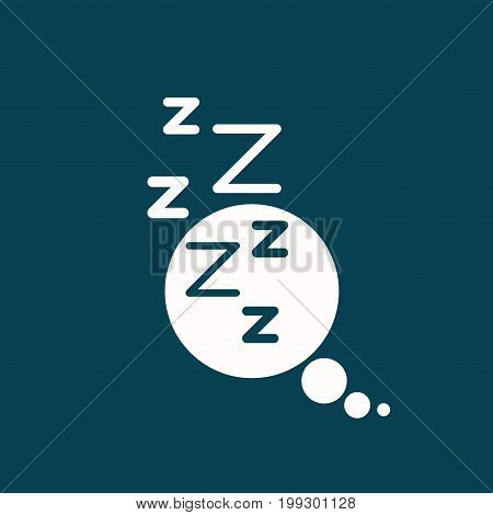 white background of speech bubble of dreaming vector illustration