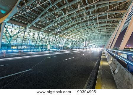 Expressway to Shanghai Pudong International Airport,China.