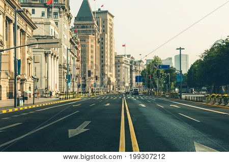 East Zhongshan No.1 Road has many exotic building clusters in the Bund of Shanghai,China.It is one of the most famous tourist destinations in Shanghai.