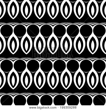 Design Seamless Monochrome Waving Pattern.