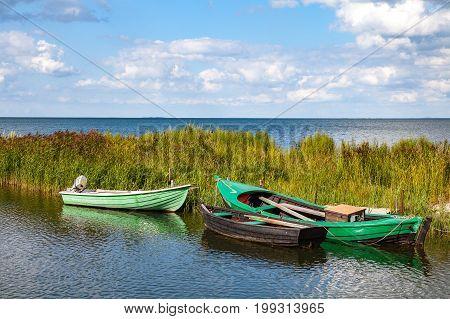 Fishing wooden boats, Baltic sea, Estonian island