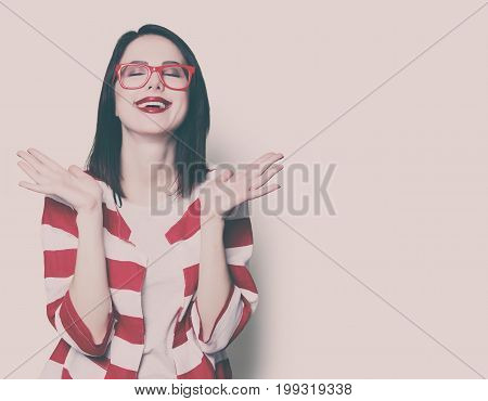 Style Woman In Glasses