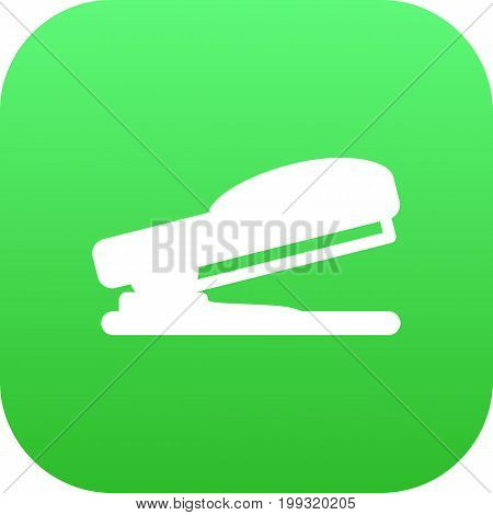 Vector Puncher Element In Trendy Style.  Isolated Stapler Icon Symbol On Clean Background.