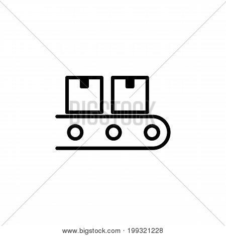 Conveyor Belt Icon On White Background