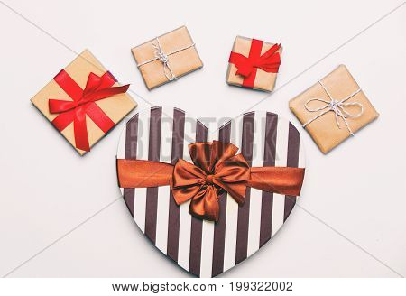 Beautiful Gifts Of Different Shapes And Colors