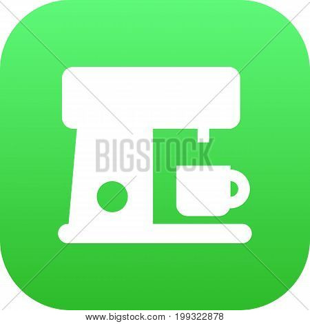 Isolated Coffee Maker Icon Symbol On Clean Background