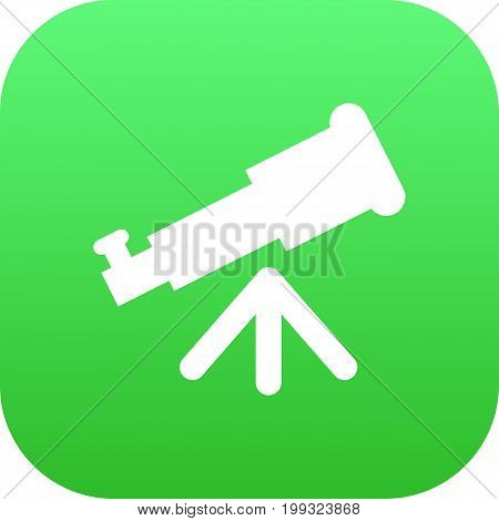 Vector Binoculars Element In Trendy Style.  Isolated Telescope Icon Symbol On Clean Background.