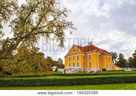 PALMSE, ESTONIA - 22 SEP 2015. Beautiful and rich Palmse Manor in Estonia