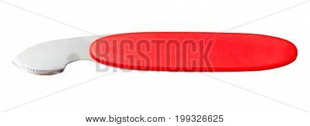 Tool With Red Handle For Opening Cover Of Watch