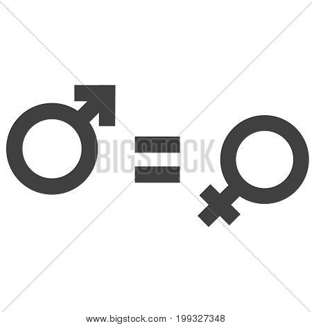Gender Inequality And Equality Icon Symbol. Male Female Girl Boy Woman Man Icon. Mars And Venus Symb