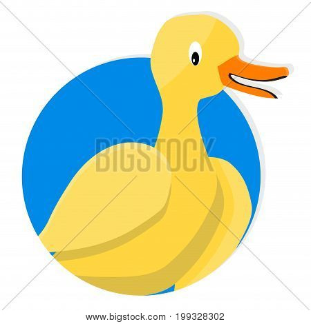 Yellow duck icon app. Yellow duck vector illustration