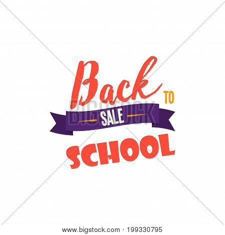 Back to school calligraphic designs label style elements sale clearance vector illustration. Back to school logo template design university banner text.