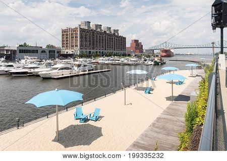Clock Tower Beach Old Port In Montreal Canada