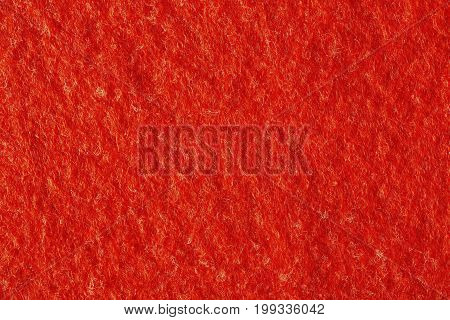 Red brigt felt texture on macro. Hi res photo.