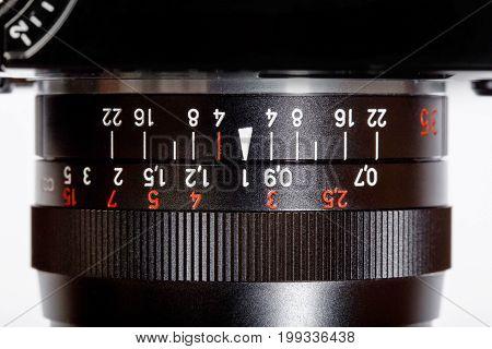 Vintage Manual Focus Lens for SLR Single Lens Reflex Camera. Hi res photo.