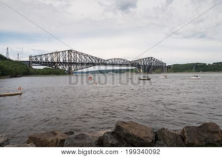 Quebec Bridge - Longest Cantilever Bridge In The World.