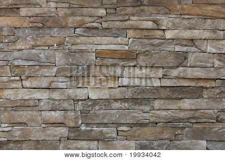 Tiling wall with stones