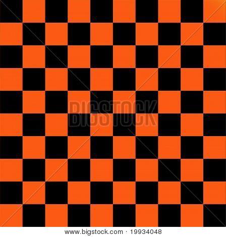 Black and orange checkered flag