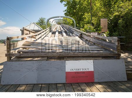 The Old Toboggan Run In Quebec City