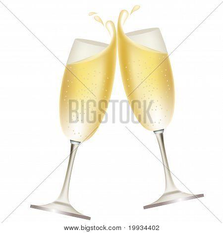 Champagne splash
