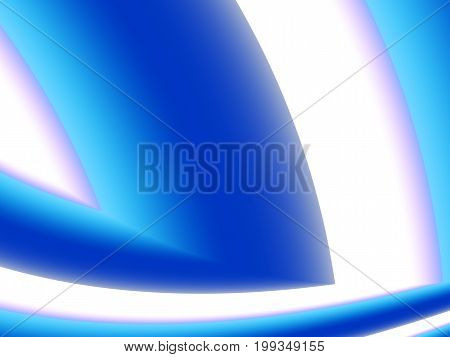 Bold blue white modern abstract fractal art. Bright background illustration resembling an eye corner shape. Creative graphic template for projects layouts designs banners book covers leaflets etc.