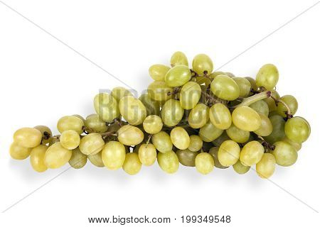 Bunch of grapes cut out on and isolated on a white background