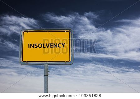 Insolvency - Image With Words Associated With The Topic Insolvency, Word, Image, Illustration