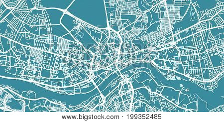 Map Of Uk Newcastle.Detailed Vector Map Vector Photo Free Trial Bigstock