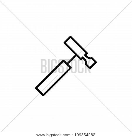 Reflex Hammer Icon On White Background