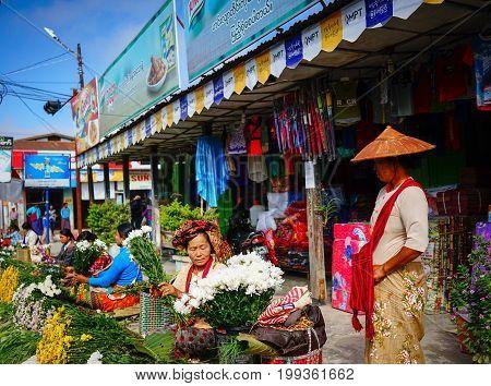 Rural Market In Yangon, Myanmar