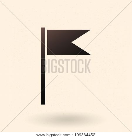 Vector Black Silhouette Flag Icon