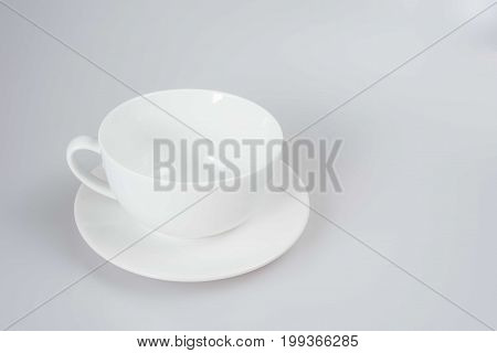 coffee cup on white background.closeup dishware on white background