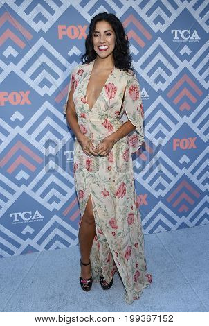 LOS ANGELES - AUG 08:  Stephanie Beatriz arrives for the FOX TCA Summer Press Tour 2017 on August 8, 2017 in West Hollywood, CA