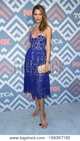 LOS ANGELES - AUG 08:  Tricia Helfer arrives for the FOX TCA Summer Press Tour 2017 on August 8, 2017 in West Hollywood, CA