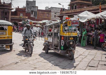 Jodhpur, India - January 11, 2017: Typocal Indian City Loife At Jodhpur, India.