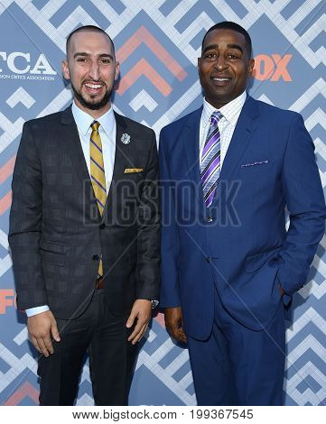 LOS ANGELES - AUG 08:  Cris Carter and Nick Wright arrives for the FOX TCA Summer Press Tour 2017 on August 8, 2017 in West Hollywood, CA