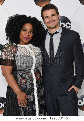 LOS ANGELES - AUG 06:  Kimberly Hebert Gregory and Jason Ritter arrives for the ABC TCA Summer Press Tour 2017 on August 6, 2017 in Beverly Hills, CA