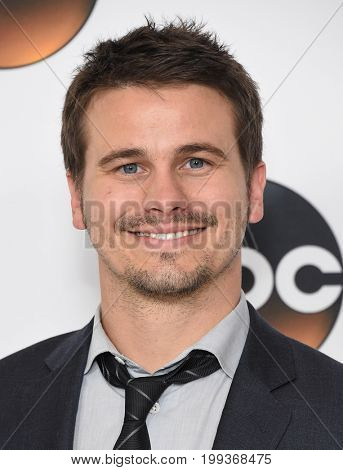 LOS ANGELES - AUG 06:  Jason Ritter arrives for the ABC TCA Summer Press Tour 2017 on August 6, 2017 in Beverly Hills, CA