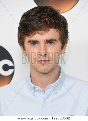 LOS ANGELES - AUG 06:  Freddie Highmore  arrives for the ABC TCA Summer Press Tour 2017 on August 6, 2017 in Beverly Hills, CA
