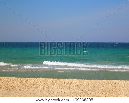Beach iand sea n Sousse, Tunisia, Northern Africa