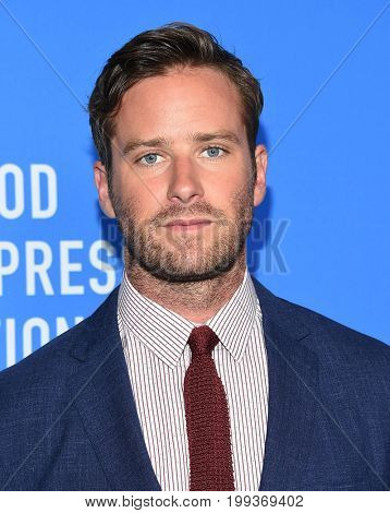 LOS ANGELES - AUG 02:  Armie Hammer arrives for the HFPA's Grants Banquet on August 2, 2017 in Beverly Hills, CA