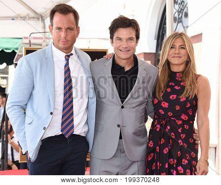 LOS ANGELES - JUL 26:  Will Arnett, Jason Bateman and Jennifer Aniston Walk of Fame honors Jason Bateman on July 26, 2017 in Hollywood, CA