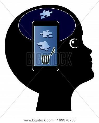 Smartphone damage the Brain. The use of cellphone may cause memory loss in early childhood