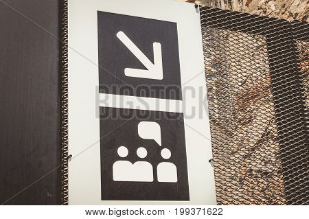 Entrance For The Tourist Groups Of The Sagrada Familia