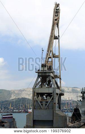 Back Of Crane In Seaport