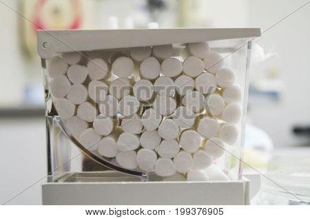 Needle-holder, Gauze Pads Or Swabs And So On In The Dental Clinic