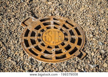 Cast-iron Hatch Of Storm Sewerage System