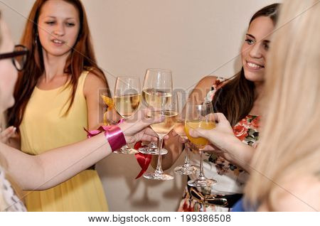 wedding party, feast and clinking of glasses